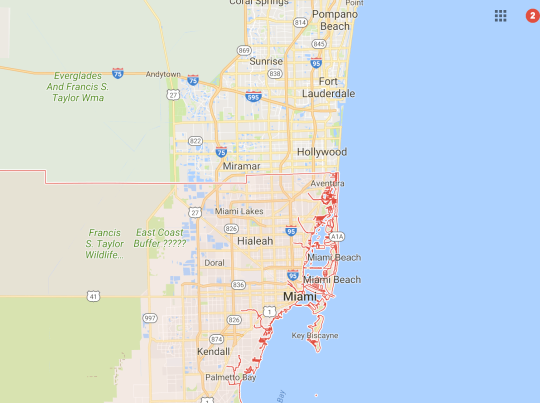 Miami Hood Cleaning Coverage Map